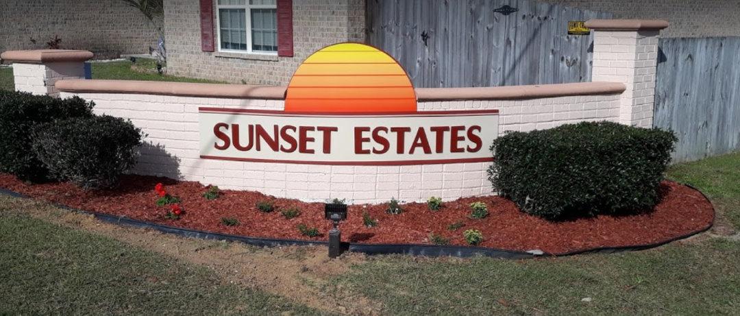 Neighborhood Monument Sign Pensacola Florida